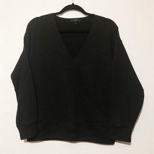 J. Crew Wrap Front Sweatshirt